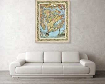 Beaufort, beaufort sc, beaufort sc map, beaufort sc art, beaufort wall art, Beaufort map gift, Beaufort SC gift, south carolina gift, sc map