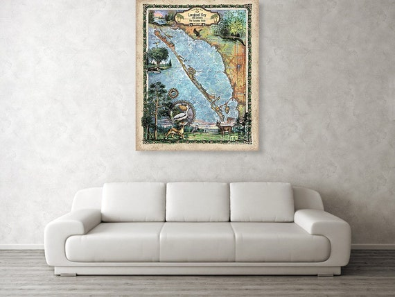 Map Sarasota Florida.Sarasota Florida Map Sarasota Map Florida Gifts Old Etsy