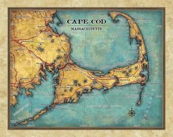 cape cod, cape cod map, map cape cod, cape cod art, art cape cod, cape cod map print, cape cod wall art, cape cod gift, cape cod art print