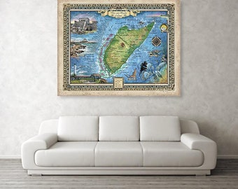 cozumel, scuba gift, scuba diver gift, scuba map, travel map, cozumel wedding, destination wedding, cozumel map, scuba wall art, scuba art