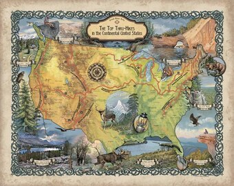 Hiker gift, hiking map, hiking maps, maps hiking, hiking gift, Appalachian trail, AT map, Appalachian trail gift, pacific crest trail, PCT