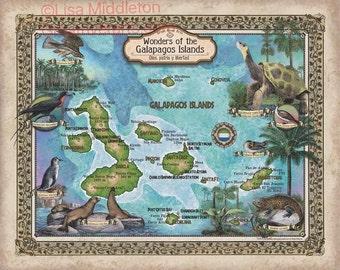 Galapagos Islands, world travel map, galapagos travel map, galapagos map, map galapagos map, personalized travel map, custom travel map, map