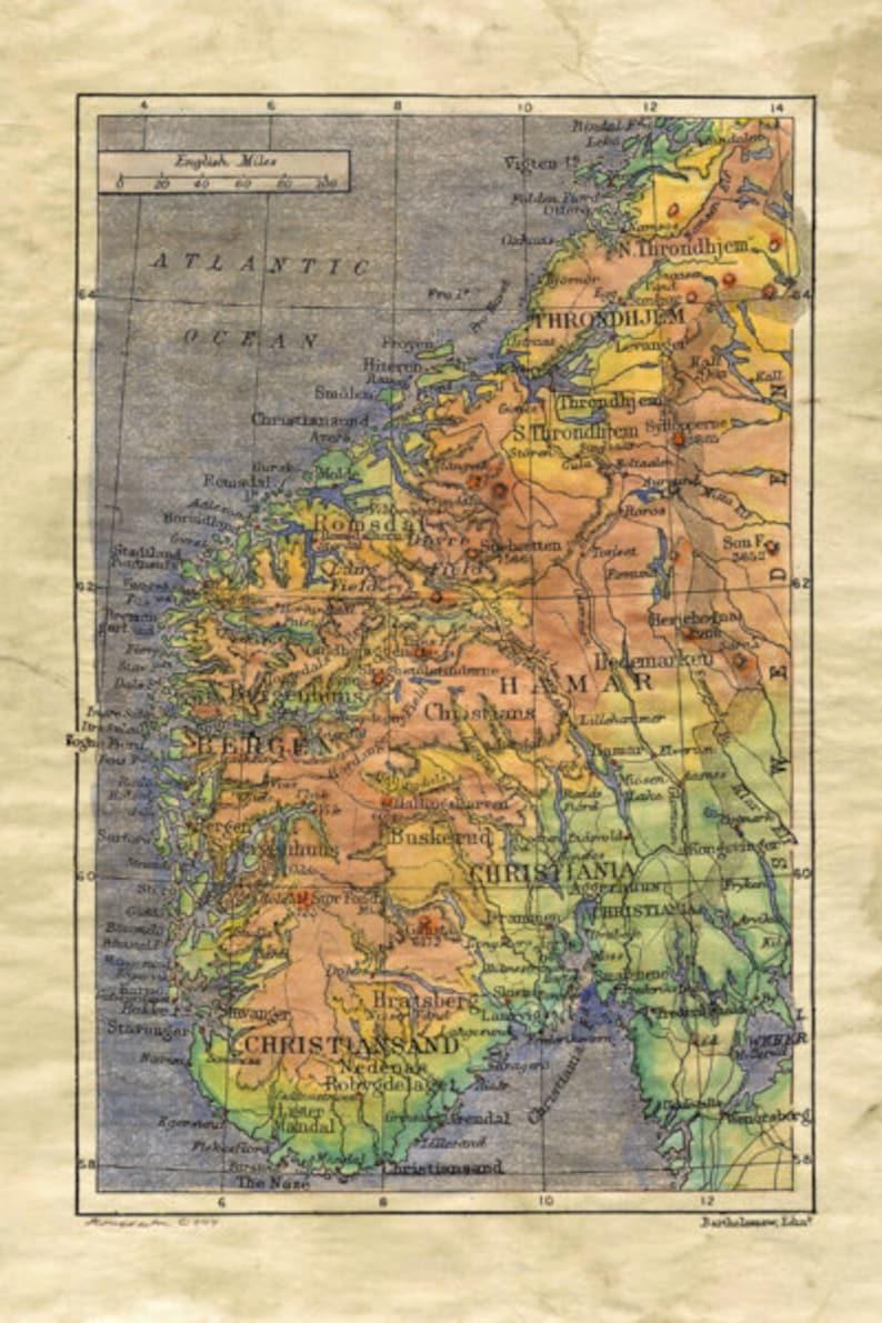 Karte Norwegen.Norwegen Karte Norwegen Norwegen Karte Alte Landkarte Norwegen Norwegen Kunst Norwegen Poster Norwegen Druck Norwegen Geschenke Norwegische