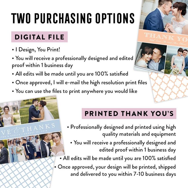 PDF Printable Wedding Thank You Black and White Thank You Card Photo Thank You Card Wedding Thank You Card Printed Wedding Thank Yous