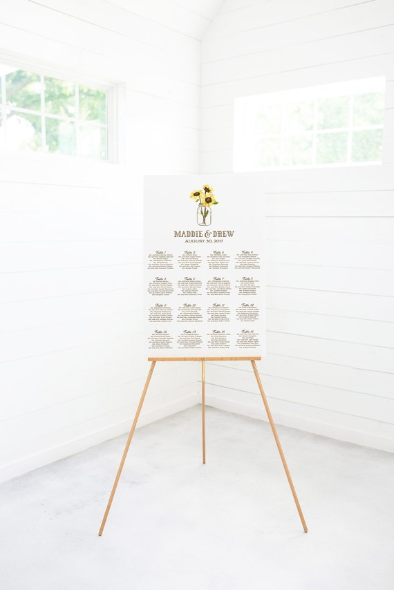 Wedding Seating Chart Digital Seating Chart Seating Chart Etsy