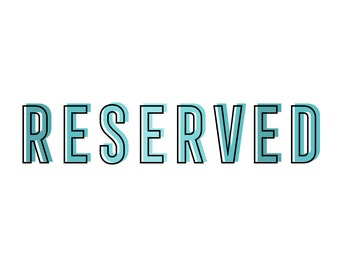 Reserved Listing - Custom Order for Connie