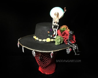 Let's get the party Started Day of the Dead Mexican Bolero Hat