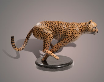"Bronze Sculpture ""The Cheetah"" Amazing Detail!!! Limited Edition SCULPTURE by Barry Stein"