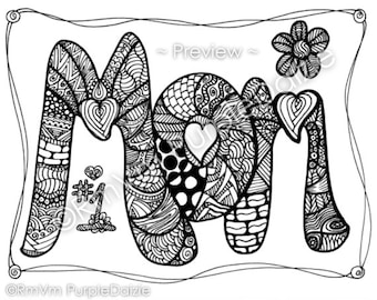 Mother's Day Printable Spanish Subway Art to Color | Mothers day ... | 270x340