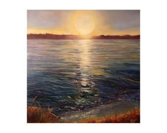 Giclée Print | Golden Hour on Lake Sammamish | Limited-edition | Signed Original Fine Art | Wall Décor