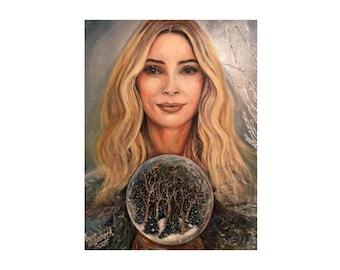 Giclée Print | Snow Queen | Limited-edition | Signed Original Fine Art | Wall Décor