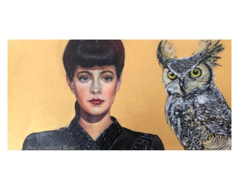 Oil Painting on Canvas | Do You Like Our Owl? | Signed Original Fine Art | Museum Quality | Wall Décor