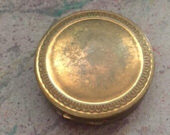 Antique Vintage Pocket Mirror Powder Compact
