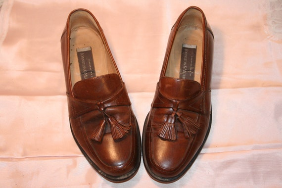 Size 7.5,ROCKER LEATHER LOAFERS,tassel loafers men