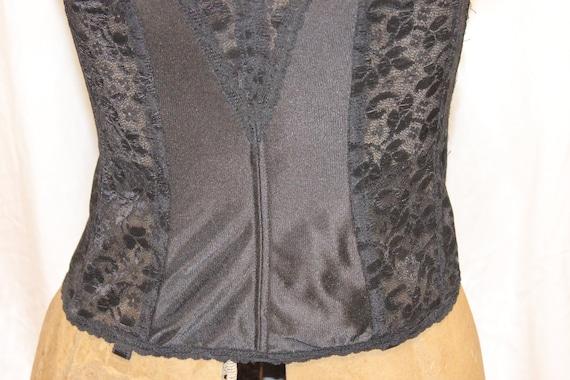 VINTAGE LACE CORSET Tops,black vintage corset top… - image 7