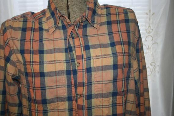 LIZ CLAIBORNE FLANNEL Shirt,flannel shirt pattern… - image 4