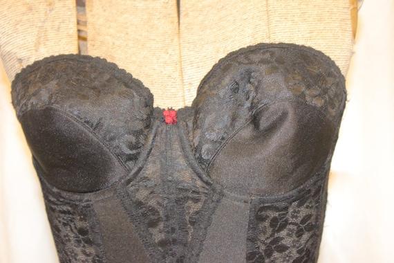VINTAGE LACE CORSET Tops,black vintage corset top… - image 5