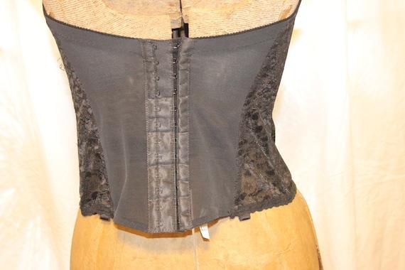 VINTAGE LACE CORSET Tops,black vintage corset top… - image 4