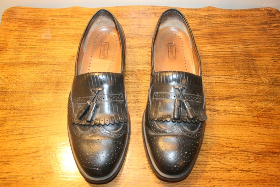 Size11,LEATHER LOAFERS,mens leather loafers,black