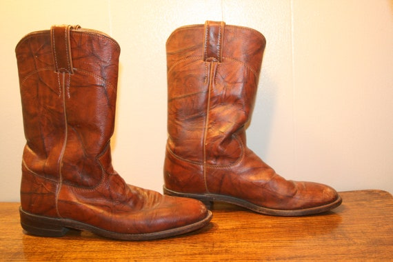 Size 6.5,JUSTIN LEATHER BOOTS,womens boots,justin