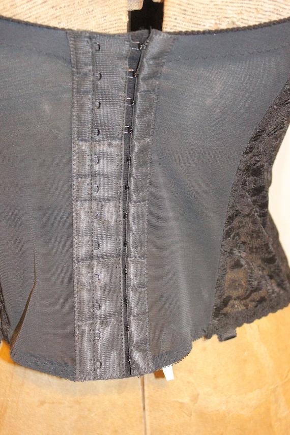 VINTAGE LACE CORSET Tops,black vintage corset top… - image 6