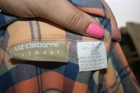 LIZ CLAIBORNE FLANNEL Shirt,flannel shirt pattern… - image 9