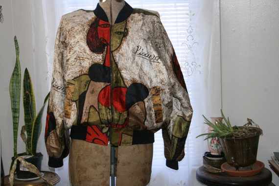 VINTAGE PICASSO JACKET,windbreaker jacket,abstract