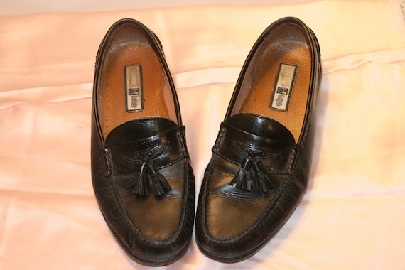 Size 8.5,TASSEL LEATHER LOAFERS,men leather flats,