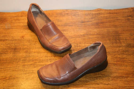 Size 6,GRUNGE LEATHER LOAFERS,boho loafers,grunge
