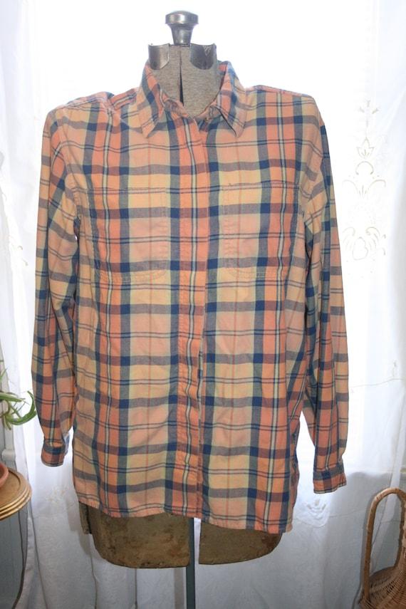 LIZ CLAIBORNE FLANNEL Shirt,flannel shirt pattern… - image 2