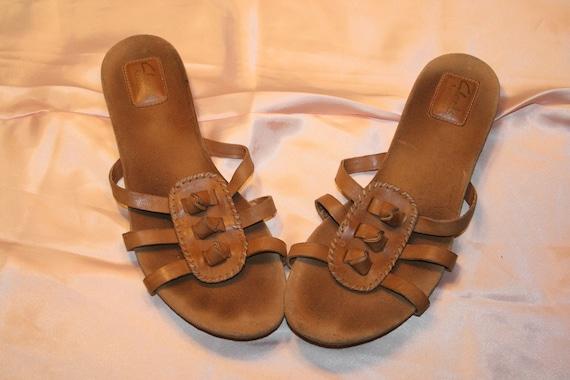 Size 10,SOUTHWESTERN LEATHER SANDALS,bohemian sand