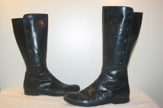 Size 8.5,LEATHER RIDING BOOTS,biker Boots,boots si