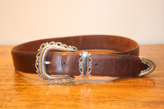 small,WESTERN LEATHER BELT,brown leather belt,boho