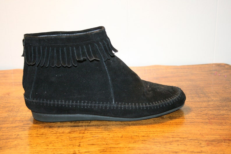 d45a322f14b Size 9FRINGE BOOTIESbooties 9moccasins womenmoccasins