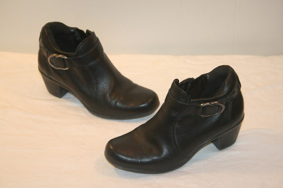Size 6.5,ROCKER LEATHER BOOTS,Leather Ankle Boots,