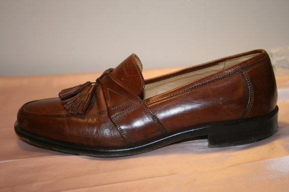 Size 7.5,ROCKER LEATHER LOAFERS,tassel loafers me… - image 5