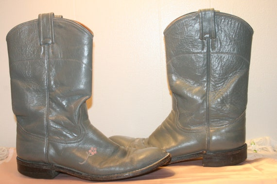 Size8,BIKER LEATHER BOOTS,cowgirl boots,hipster bo