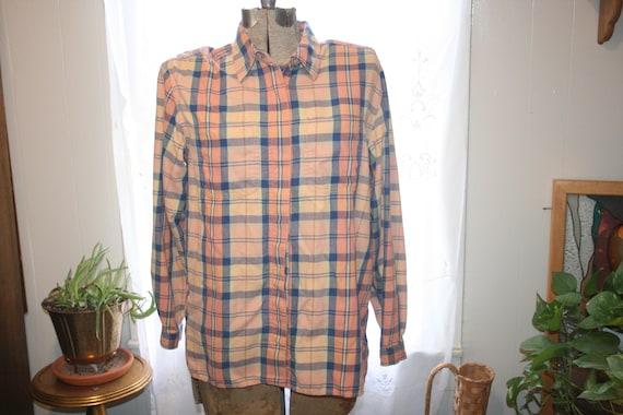 LIZ CLAIBORNE FLANNEL Shirt,flannel shirt pattern… - image 1
