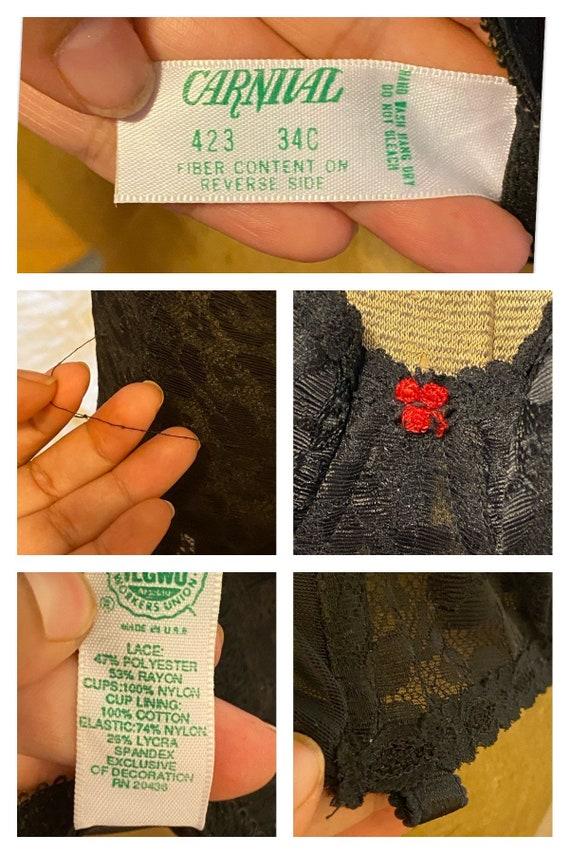 VINTAGE LACE CORSET Tops,black vintage corset top… - image 10