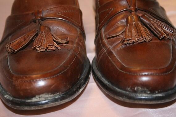 Size 7.5,ROCKER LEATHER LOAFERS,tassel loafers me… - image 3