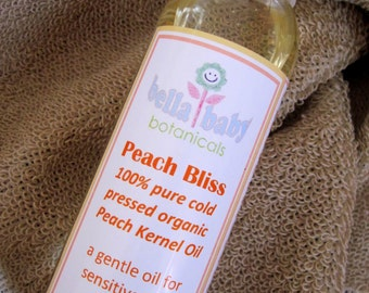 BellaBaby Skin Oil,  organic Peach Kernel cold pressed oil