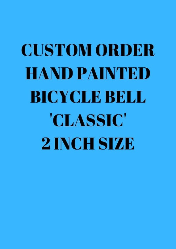 Bicycle Big Bells With Retro Paint Designs Bike Dual Tone Cycle Bell Blue