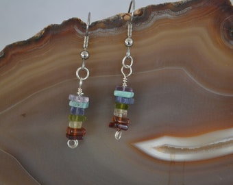 Chakra Gemstone Earrings with Sterling Silver
