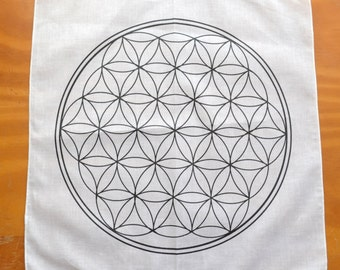 Flower of Life: Sacred Geometry Cotton Grid