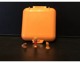 orange Fashion, Character, Play Dolls Vintage Polly Pocket 1989 Polly's Town House 100% Complete