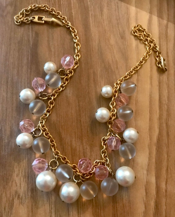 Napier Pearl Necklace Vintage Jewelry