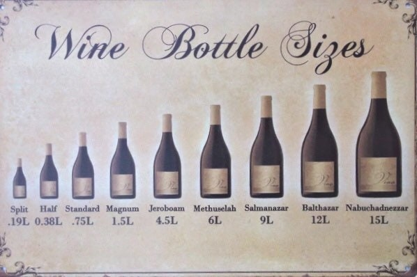 Vintage Enamel Sign, Wine Bottle Size, Kitchen Bar Decor