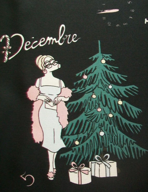 French Calender Silk Scarf, Paulette Zoute French