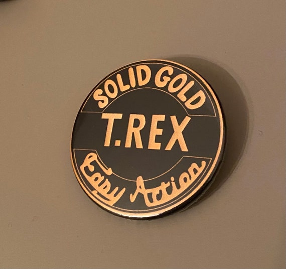 T Rex Badge, Marc Bolan 1970s Glam Rock Easy Actio