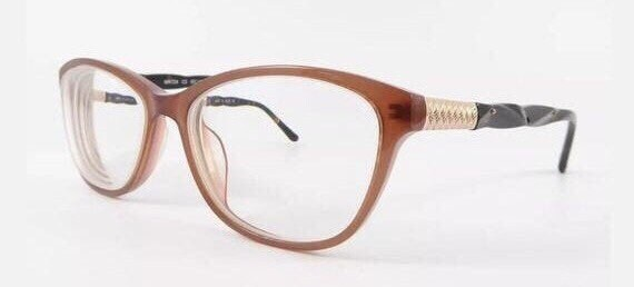 Maggy Rouff Eye Glasses, Translucent Brown, Tortoi